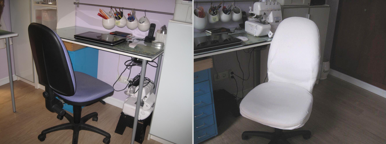 Mis soluciones pangala hacer funda a una silla de for Silla escritorio oficina