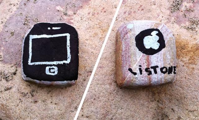 istone rocks kids kind spiel stein nino jugar telefono piedra