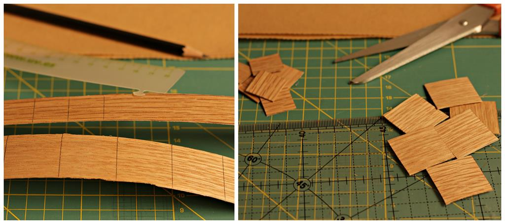 recortar la chapa de madera