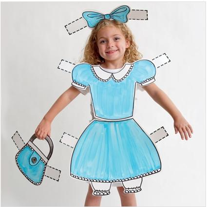 disfraz de muñequita recortable