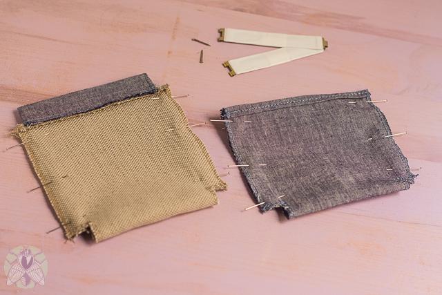 coser laterales de la cartera pángala