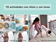 10 actividades con niños y con lanas-pangala