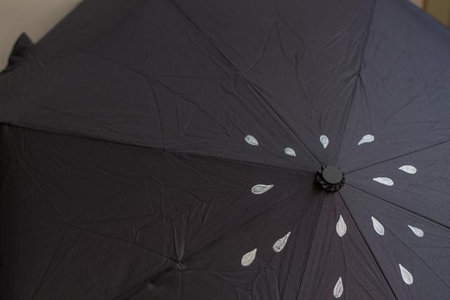 pintar las primeras gotitas en blanco paraguas pangala 3