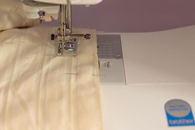 tomar referencia de linea con la máquina de coser