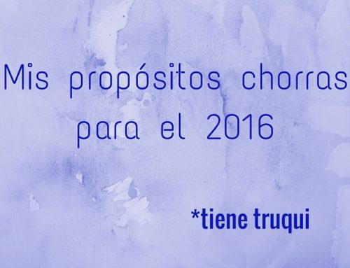 Mis propósitos superficiales (y no tanto) para 2016