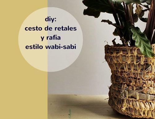 Diy: cómo hacer un cesto de retales y rafia inspiración wabi sabi