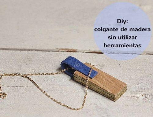 Diy: colgante de madera sin utilizar herramientas